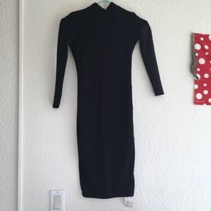 Midi dress with back cut out